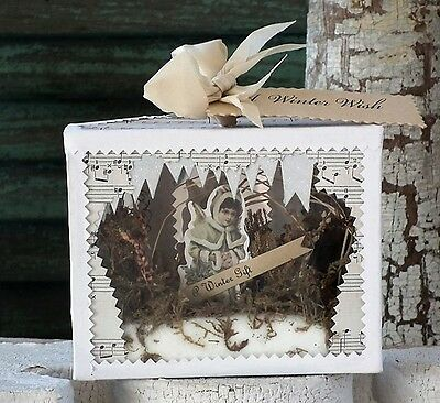 WENDY ADDISON Assemblage ~ANGEL DIORAMA~ Shadow Box ~ Retired and NWT!