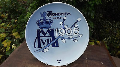 RARE 1906 Norway Plate The Coronation of King Haakon and Queen Maud Porsgrund