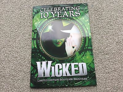 Wicked London 10th Anniversary Souvenir Programme Brochure LIMITED EDITION.