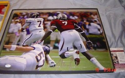 JADEVEON CLOWNEY Signed 16X20 Photo, Game Cocks Houston Texans W/ JSA COA