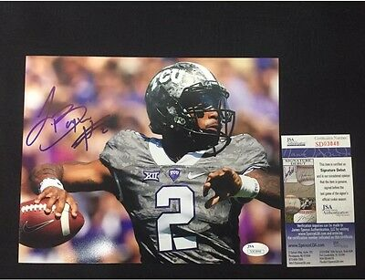 TREVONE BOYKIN TCU HORNED FRONGS SIGNED 8X10 PHOTO W/ JSA COA Seattle Seahawks
