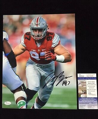 JOEY BOSA SIGNED 11X14 PHOTO w/ JSA Autograph COA Ohio State Buckeyes