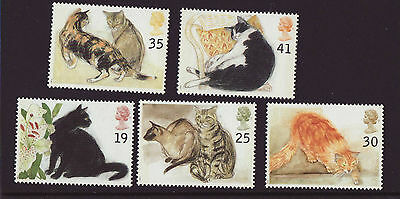 Great Britain 1995 MNH - Cats - set of 5 stamps