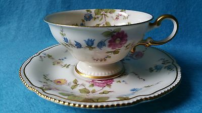 CASTLETON China Sunnyvale CUP & SAUCER SET Pearl Edge Multi Color Floral MANY!!