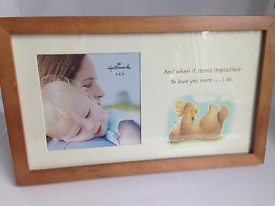 Hallmark Baby Rustic Photo Frame IMPOSSIBLE TO LOVE YOU MORE Shower Gift Bears