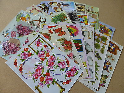 *NEW* 20x ASSORTED Mixed A4 Sheets of TBZ Traditional Embossed Decoupage (Set 2)