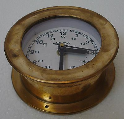 U.S. Navy BRASS Marine Wall Clock - LIttle - 100% SATISFACTION