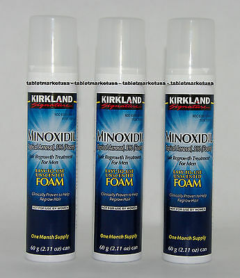 Minoxidil 5% Foam Hair Regrowth Men 3 month Supply Kirkland Brand 12 Weeks