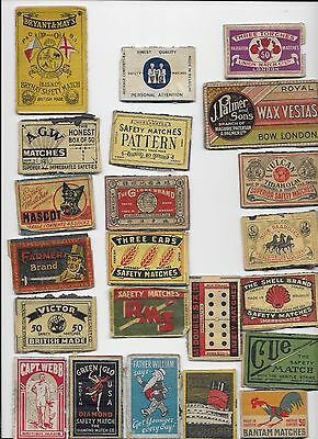 22 Old Matchbox Labels