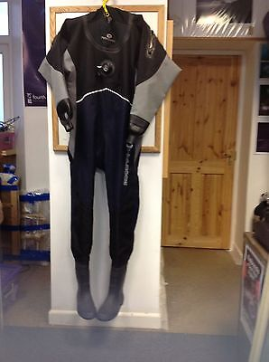 Typhoon Prosport S/M Size 8 Boots New Drysuit with Cuff Dump