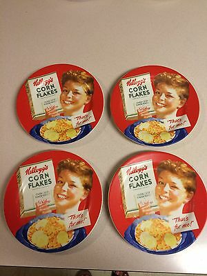Kellogg's Cereal  Vintage Reproduction Plates 2006 Corn Flakes Set Of 4