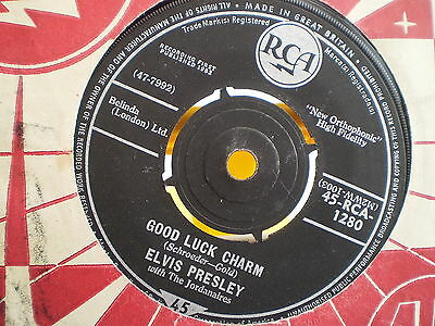 "ELVIS PRESLEY -GOOD LUCK CHARM / ANYTHING THAT'S PART OF YOU-UK 7"" Single-VG-196"