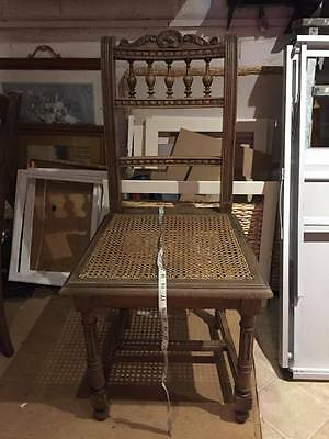 vintage rustic french wooden chair