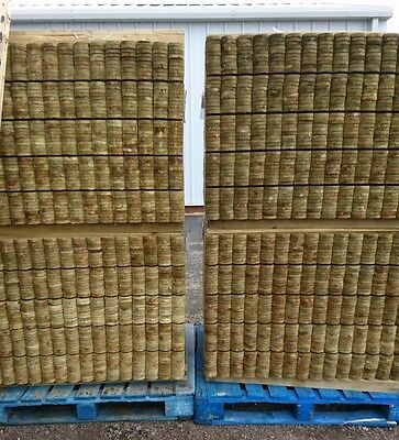 job lot 750 ROUND TOP PICKET GARDEN FENCE PALES 900mm LINED FOR SPECIAL EFFECT