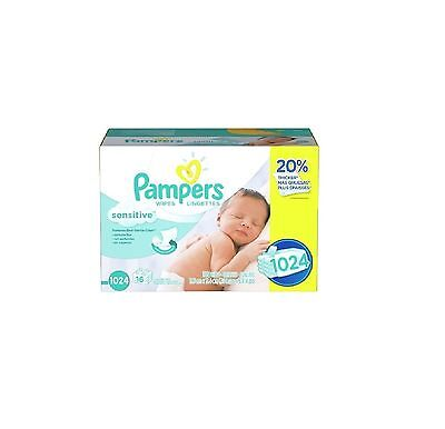 Pampers Sensitive Baby Wipes 1024 ct Perfume Free Gentle Cleaning