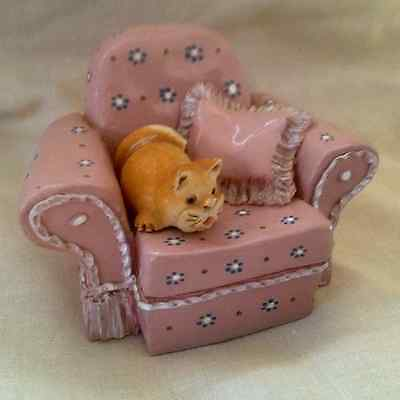 peter fagan colourbox cat.....rare...SOLOS CHAIR....with brown cat...HS410