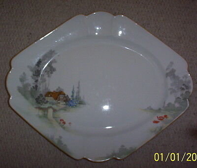 Shelley Queen Anne large platter in Cottage 2 pattern 11621