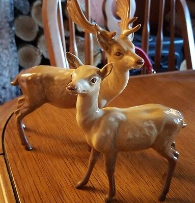 Beswick Stag and Doe