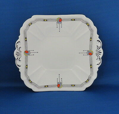Rare Shelley Queen Anne Cake Plate in 11306 (1925) Art Deco pattern