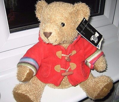 RUSS House Of Fraser Baby Fraserbear 2005 - Brown Teddy Bear With Red Coat