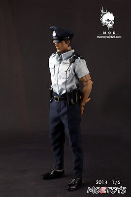 1/6 scale moe-toys POLICE MAN SHORT-SLEEVED SUIT No Body doll action figure toys