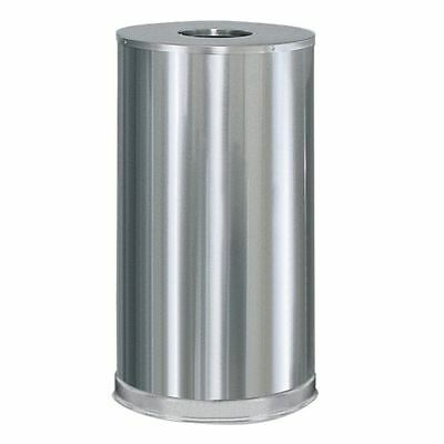 Rubbermaid FGCC16SSSGL Metallic Satin S/S Open Top 15 Gal Trash Can