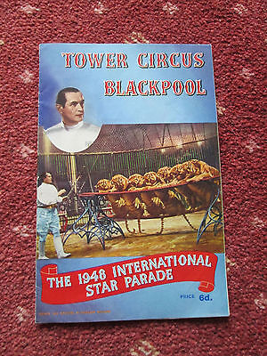 Tower Circus Blackpool - 1948 International Star Parade - Programme