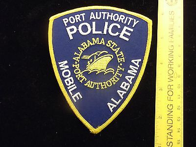 Alabama Port Authority Police patch defunct vintage issue 10 yrs Harbor Marine