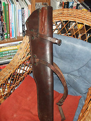 WWII Original US 1945 dated  Leather M1 Carbine Jeep Holster. Excellent