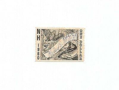 1960 Fish Or Hunting Stamp From State Of New Hampshire
