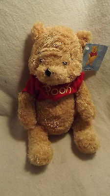 Disney Store Winnie The Pooh Feathery Soft Bean Filled With Tags 10'' High Ref34