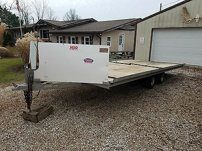 4 place snowmobile sled atv drive on drive off trailer NO RESERVE AUCTION!!!!