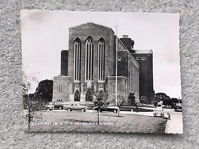 Guildford Cathedral Surrey R.P. Postcard shows Old Cars
