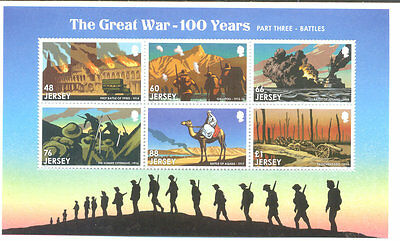 Jersey-The Great War Min sheet mnh 2016-Military-Gallipoli-Somme