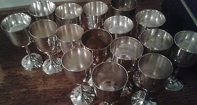 Job Lot of Silver Plated Goblets