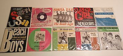 "Beach Boys - FIRST 8 ITALIAN SINGLES + UNIQUE EP 7"" 45 SUPER CHRISTMAS GIFT!"