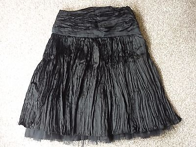 Linea Girls Black Crinkled Skirt Age 8 to 9 years 100% Acetate