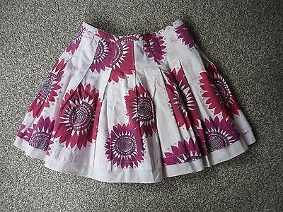 John Lewis Girls White and Pink Cotton Skirt Age 4 years