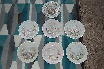 Royal Doulton Wind in the Willows Plates Set of 7