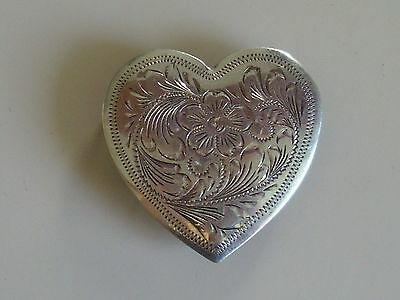 """Beautiful New 2 1/2"""" Sterling Silver Overlaid Heart Concho For Breast Collar Or?"""