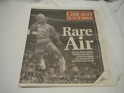 Chicago Sun-Times Newspaper September 12 2009 Michael Jordan Hall Of Fame Issue