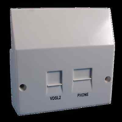 ADSL / VDSL Filter Filtered Faceplate For BT NTE5 - (same as NTE2000)