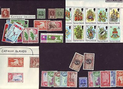 Cayman Islands 1962 QEII Pictorials SS to 1/-  -  MH Reigns Collection  on Cards