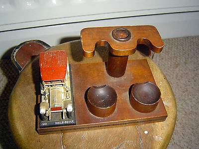 Vintage Pipe Stand Wooden Pipe Stand Novelty Rolls Royce 1912 - Retro / Chic
