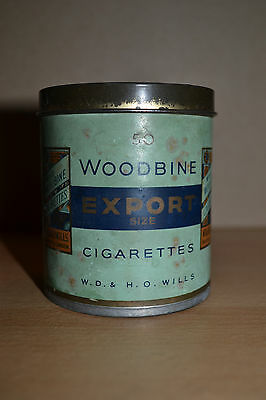 Vintage WOODBINE TIN cigarettes (empty)