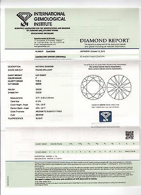 DIAMANT 0.21ct Brillant VVS2 Top Wesselton (F) IGI
