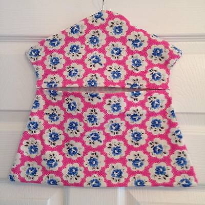 Homemade peg bag made from electric pink Cath Kidston Provence Rose fabric