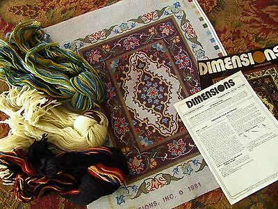1981 DIMENSIONS WOOL TAPESTRY KIT w/ PERSIAN WOOLS - ' GARDEN TAPESTRY ' 16x20""
