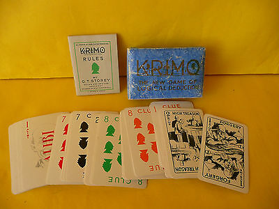 Krimo 1930's Vintage  Displacement Card Game by G.t.Storey