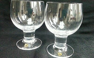 2 Dartington Drinking Glasses Great Condition, Ideal For Your Favourite Tipple..